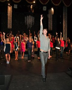 Teaching choreography for the Miss Alabama USA program