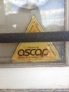 ASCAP sticker